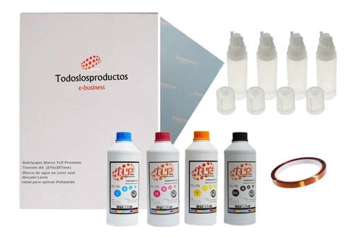 Imagen 1 de 10 de Cinta Térmica Hojas Para Sublimar A4 Tinta 100ml Botellas Re
