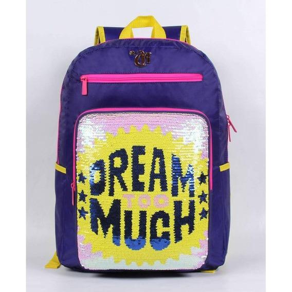 Mochila Capricho Lantejoula Dream Too Much - Dmw