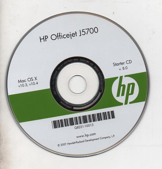 Cd De Instalaçãohp Officejet J5700 - Para Sistemas Mac Os X
