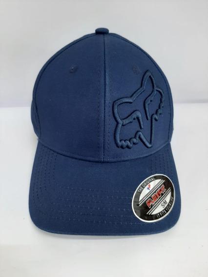 Gorra Fox Logo Y Gorra En Azul Marino