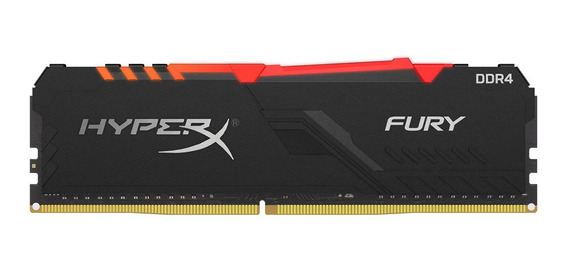 Memoria Ram Pc 8gb Rgb Kingston Hyperx Fury Ddr4 2666mhz