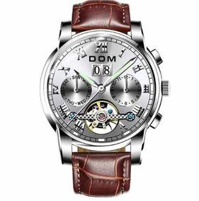 Relógio Masculino De Luxo Pulseira Couro