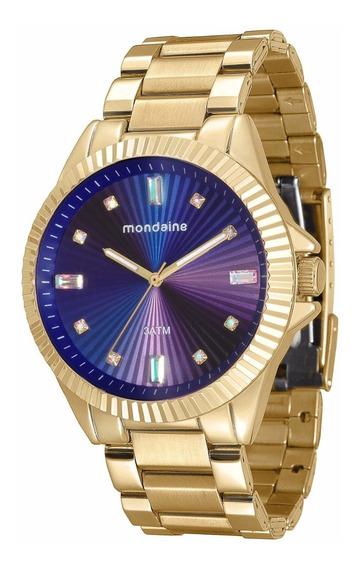 Relógio Mondaine Feminino Glamour 76613lpmvde3 Gold
