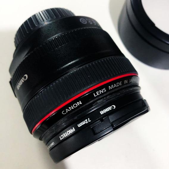 Lente Canon Ef 50mm F/2 Usm Com Filtros Frete Gratis