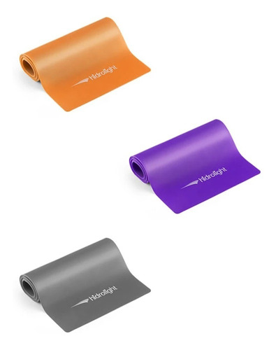 Imagem 1 de 8 de Faixa Elástica Para Exercícios Kit Com 3 Peças - Hidrolight