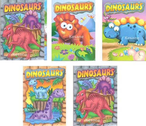 Imagen 1 de 9 de Paquete Libros Dinosaurios Para Colorear Iluminar Jumbo Niño