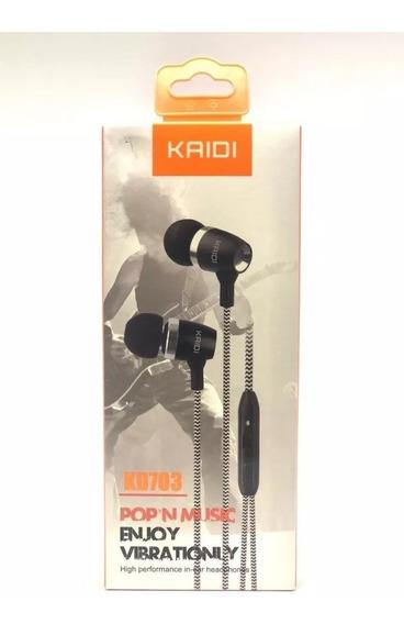 Fone De Ouvido Original Estéreo In Ear Kd-703 - Preto