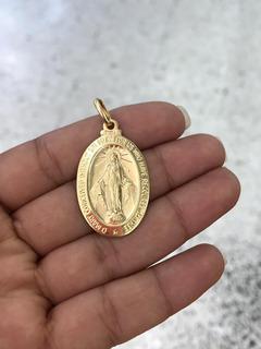 Dije Virgen Milagrosa En Oro Italiano 18k Ley 750