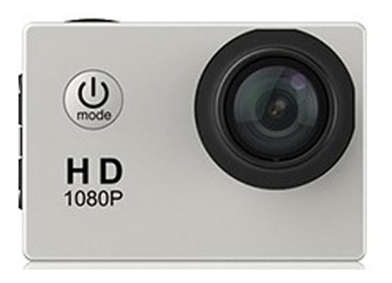 Câmera De Ação Impermeável Prata