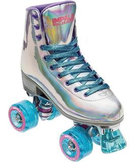 Patines 4 Ruedas Holografico Impala Roller Skate Holografico