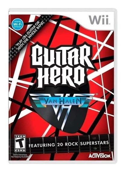 Jogo Lacrado Midia Fisica Guitar Hero Van Halen Nintendo Wii