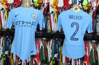 Manchester City 2017 Camisa Titular Tamanho G # 2 Walker.