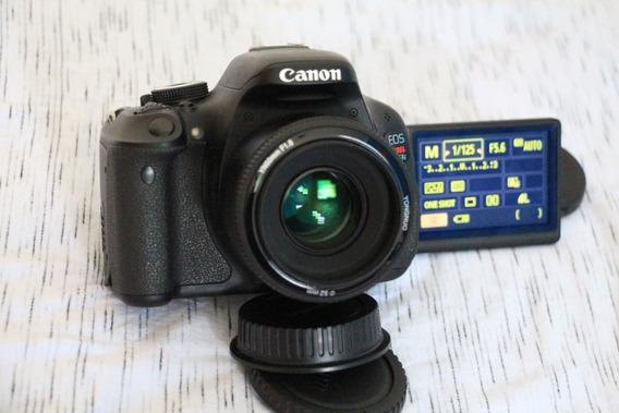 Canon T3i 600d Com Lente 50mm Desconto A Vista 1299