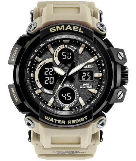 Relógio Militar Desert Smael Original Na Caixa
