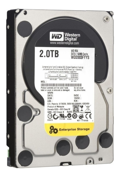 Hd Western Digital 2tb Enterprise Sata3 7200rpm 64mb