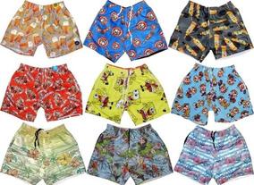 Kit Com 5 Short Masculino Moda Praia Florido Summer Promoção