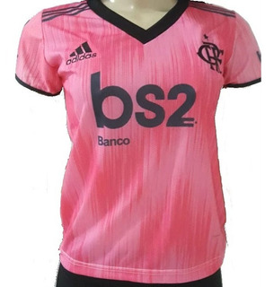 Nova Camisa Flamengo Feminina Rosa Baby Look 2019