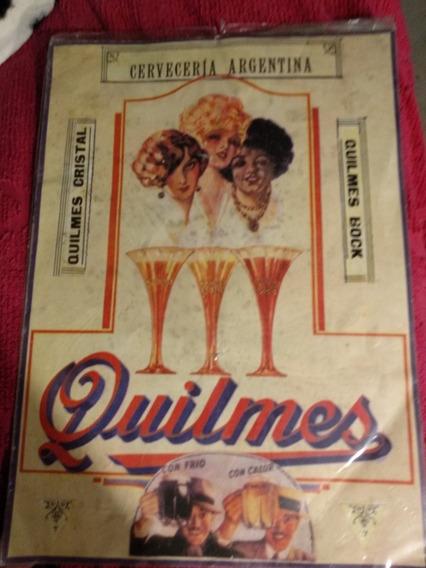 Láminas Ilustradas Cerveza Quilmes