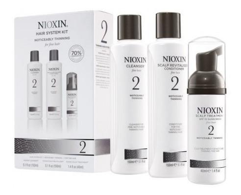 Nioxin Cresce Cabelo Kit Para Cabelo Fino 2 (3 Produtos)