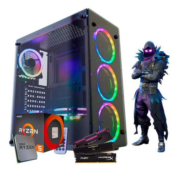 Kit Gamer Ryzen 5 2400g Vega 11, 8gb Ssd120 S/ Fonte