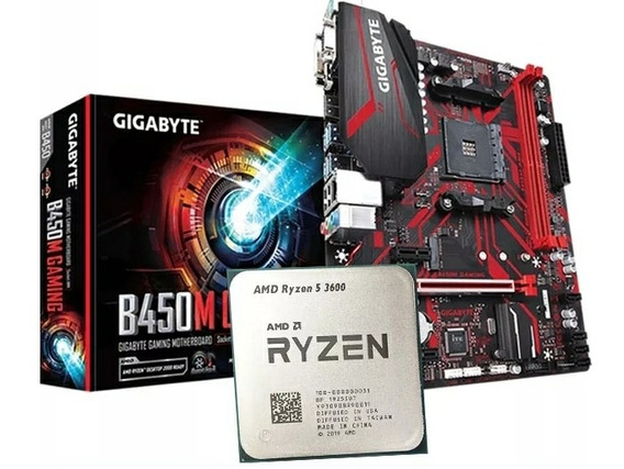 Kit Upgrade Amd Ryzen R5 3600 + Gigabyte B450m Gaming