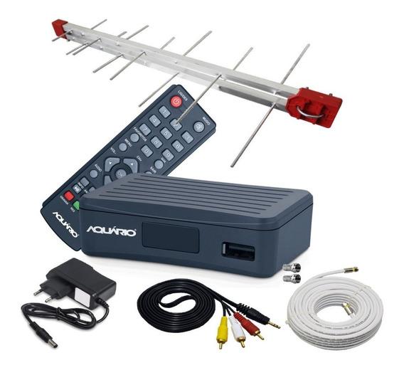 Kit Receptor Conversor Digital Full Hd Completo C/ Cabo 10mt