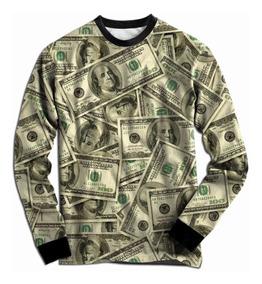 Blusa Moletom Dollar Tumblr Dinheiro Cash Swag Illuminati