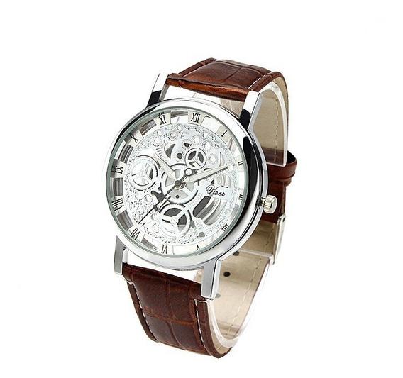 Reloj Hombre De Pila Esqueleto Mecánico Moda Caballero