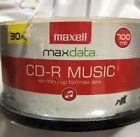 Maxwell Music Cd Rs 30-count 80 Minutes Up To 32 Max New