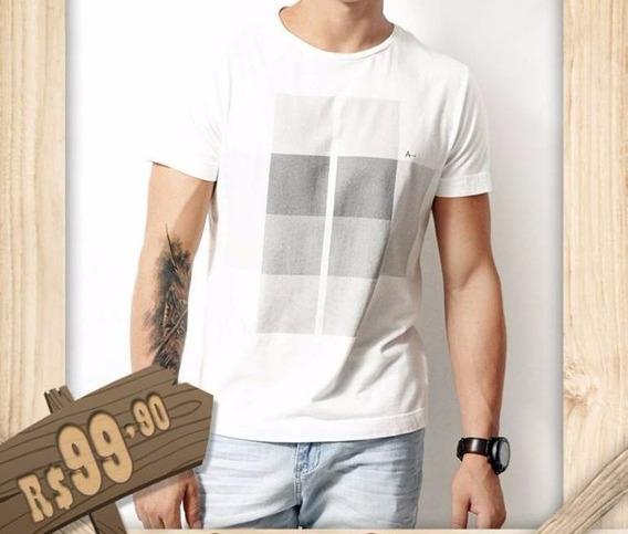 Camiseta Da Aramis Branca Com Detalhe Em Cinza, Disponivel T