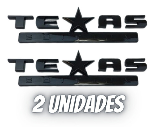 Imagem 1 de 6 de 2und Emblema Texas Edition Adesivo Ford Jeep Dodge Chevrolet