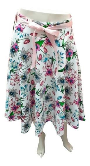 Falda Larga Para Mujer Con Diseño Flores Mtk