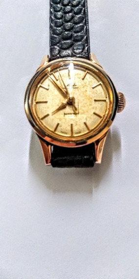 Mido Antigo Relógio Suíço Feminino Pulso Aço/ouro Maciço