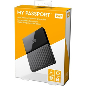 Hd Externo 1tb Portátil Wd My Passport Usb3.0 - Preto