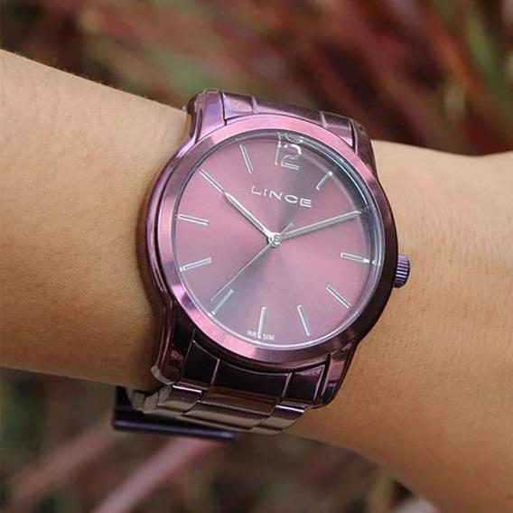 Relógio Lince Feminino Lrv4449l U2ux Roxo Analógico Promoção