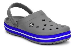 Crocs Crocband 11016 Grey / Cerulean Blue (1001)