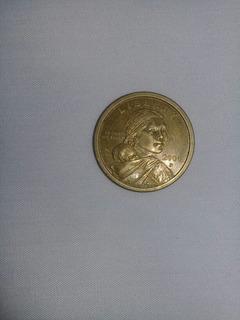 Moneda De Un Dolar Americano Año 2000 P Con Error
