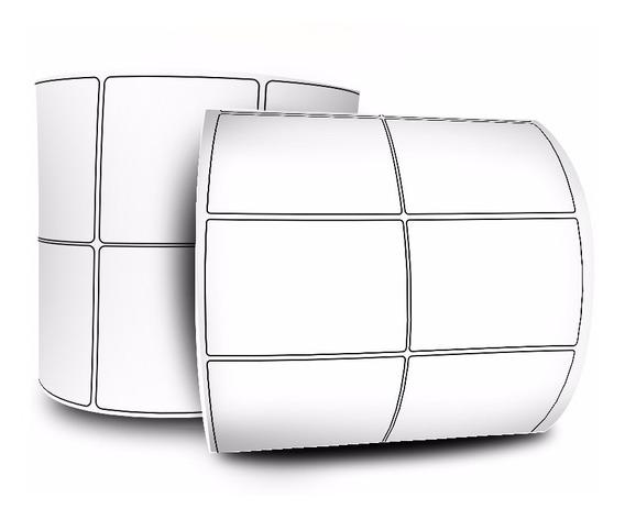 Etiqueta 50x30 Mm - Couchê - 2 Colunas - Zebra - 12 Rolos