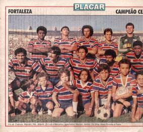 Fortaleza Campeão Cearense 1987 - Pôster Da Revista Placar