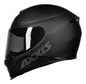 Capacete Moto Axxis Eagle Solid Preto Fosco