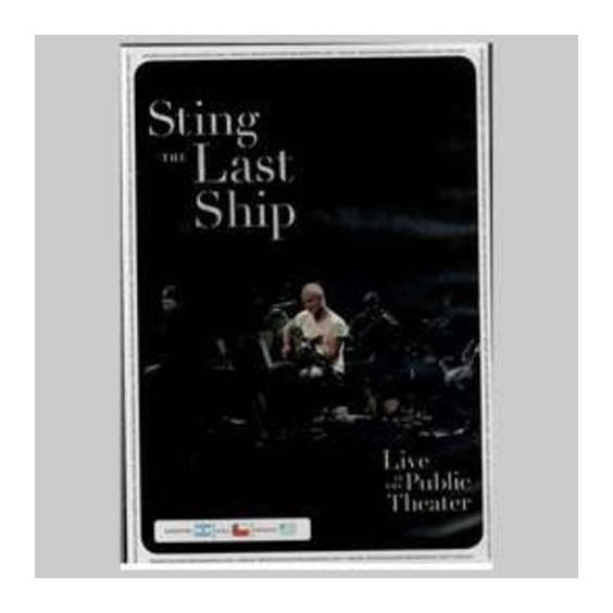 Sting The Last Ship Live At The Public Theater Dvd Nuevo