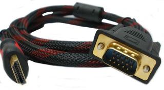 Cable Hdmi A Vga Reforzado 1,8 Mts