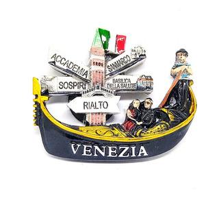 Imán Magneto Venecia Souvenir Italia Venezia Resina Recuerdo