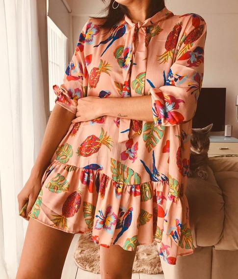 Vestido Remeron Mujer Grande Amplio M18154