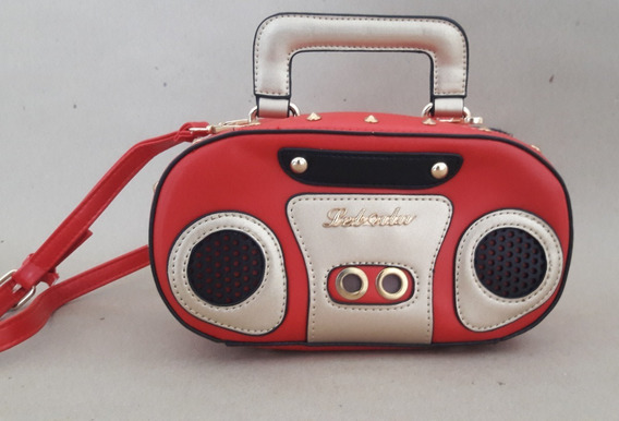 Bolsa Kawaii Radio Rojo Vintage Mujer Asa