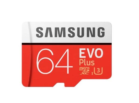 Cartão Micro Sd Samsung Evo Plus100mb/s Sdxc 4k 64g+adapters
