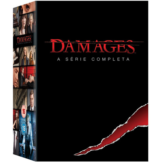Damages Box 1ª À 5ª Temporadas Série Completa 15 Dvds Novo