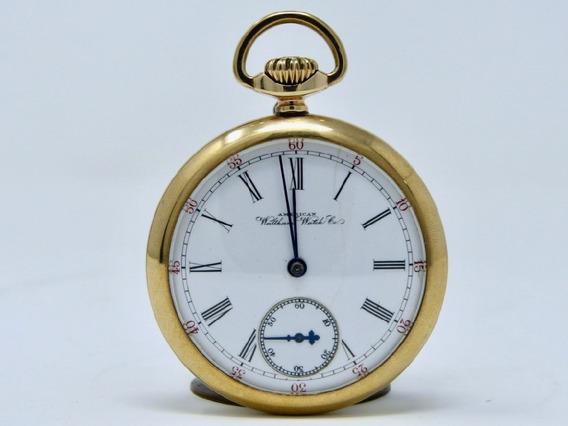 Reloj De Bolsillo Antiguo Marca Waltham Chapa De Oro 1920