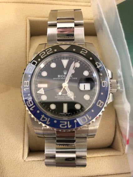 Rolex Gmt Batman Garantia Azul 116710 Cerâmica Submariner