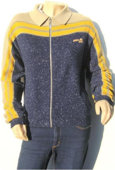 Scombro Sweater Campera T1 Lana Azul Mostaza Beige (ana.mar)